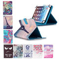 10.1'' Leather Universal case For Wolder miTab CALIFORNIA 10.1 inch Cover Printed Tablet Stand cases w/Stylus Pen+flim