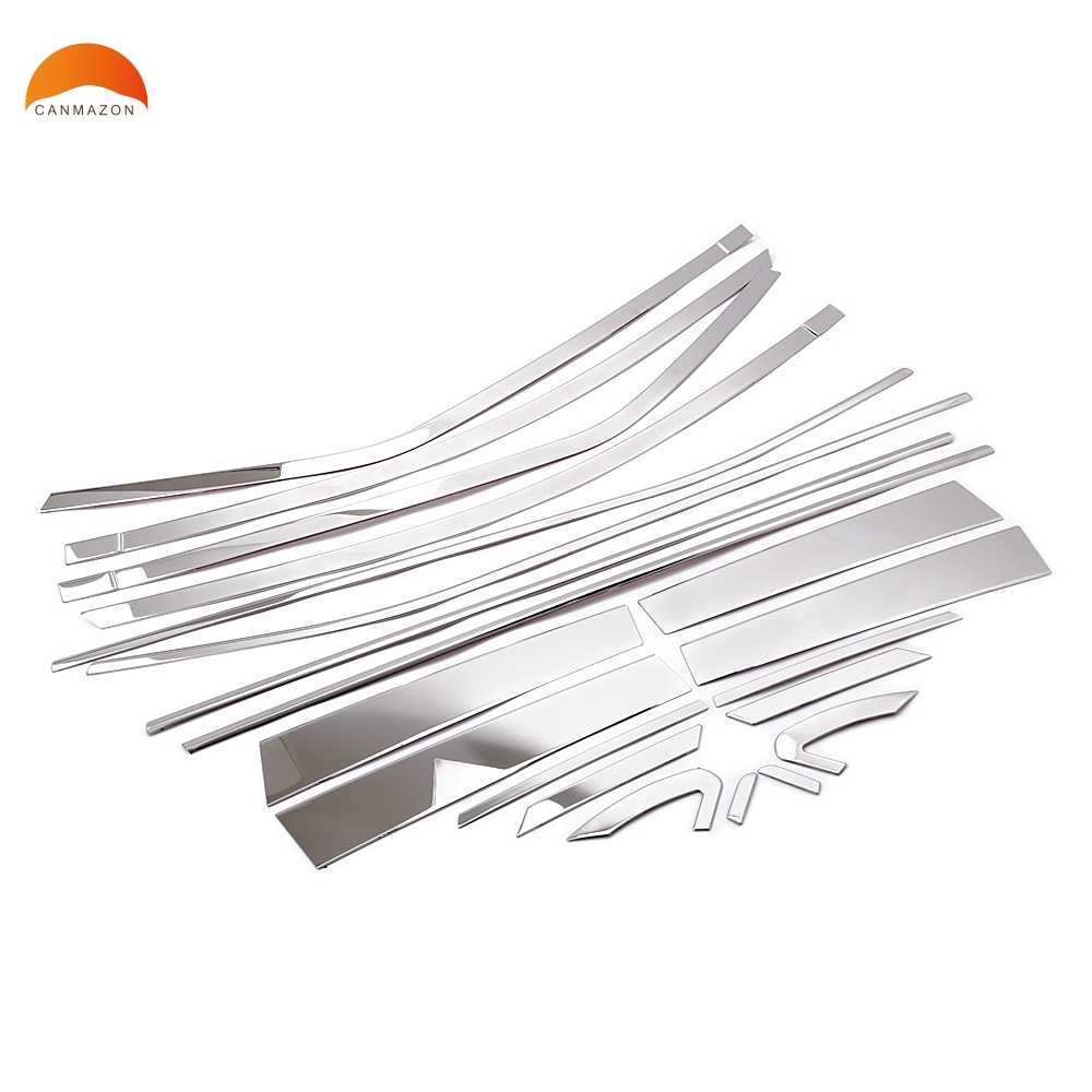 For Toyota Corolla (E170) 2013 2014 Stainless steel Car Door window decorations Windows middle frame trims glass strips