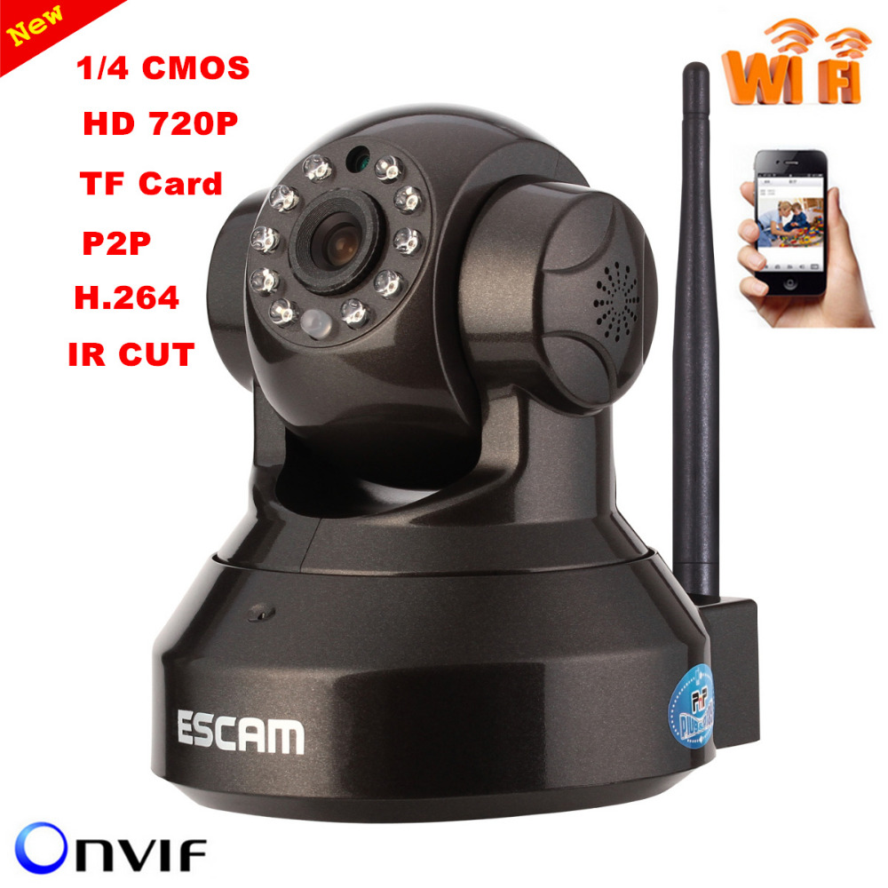 ФОТО ESCAM Pearl QF100 Wireless IP camera 720P H.264 Indoor 1/4 Support WIFI Night Vision TF Card Free Shipping