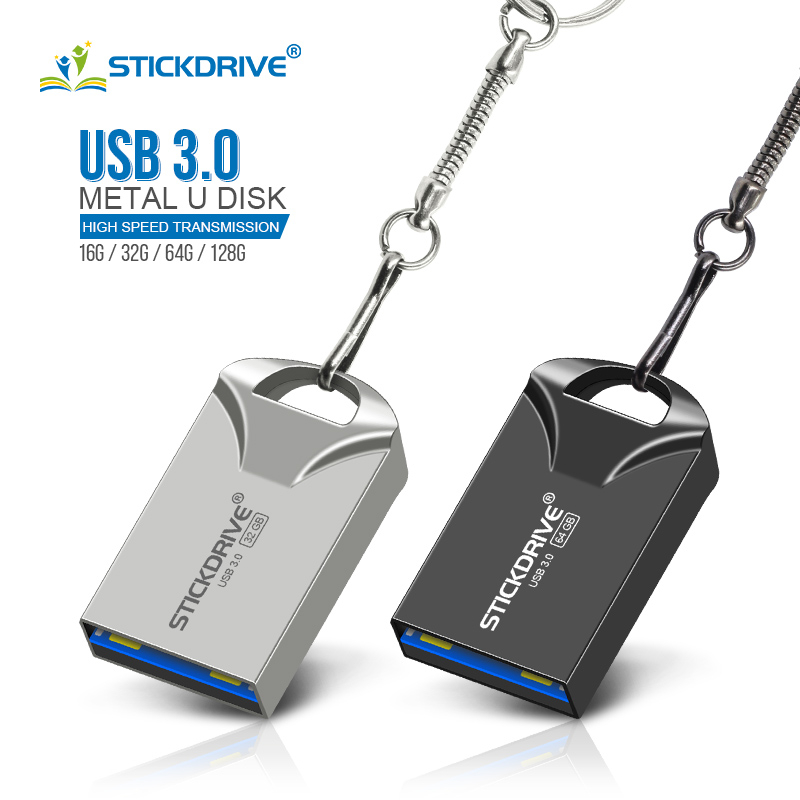 Fast Speed 128gb 64gb USB Flash Drive Metal Pen Drive 32gb 8gb Pendrive 16gb 4gb Usb 3.0 USB Stick Memory Disk(China)