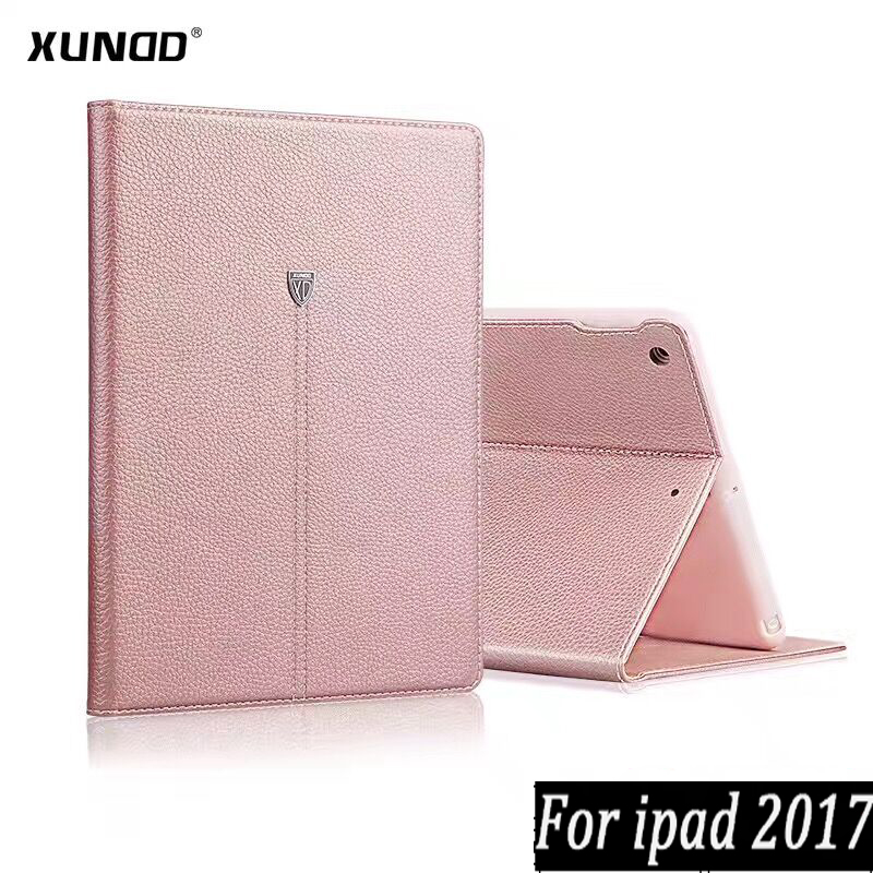 Xundd Luxury Noble Business Shockproof Vintage PU Leather Flip Wallet Stand Case For IPad 2017 9