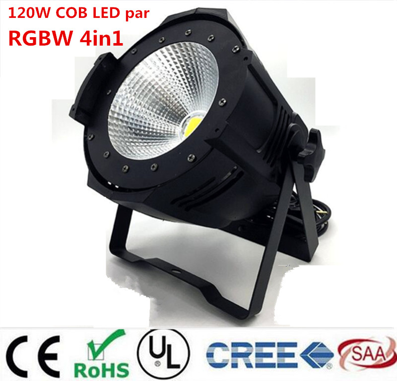 Aluminum alloy LED par 120W COB RGBW 4in1/RGB 3in1/ Warm White Cold white LED Par Can Par64 led spotlight dj light Dmx controll цена
