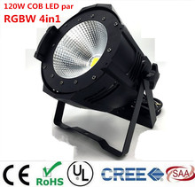 Aluminum alloy  LED par 120W COB RGBW 4in1/RGB 3in1/ Warm White Cold white LED Par Can Par64 led spotlight dj light Dmx controll
