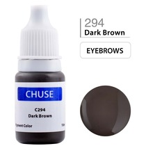 CHUSE Permanent Makeup Ink Eyeliner Tattoo Ink Set Eyebrow Microblading Pigment Professional Encre A Levre 10ML Dark Brown C294