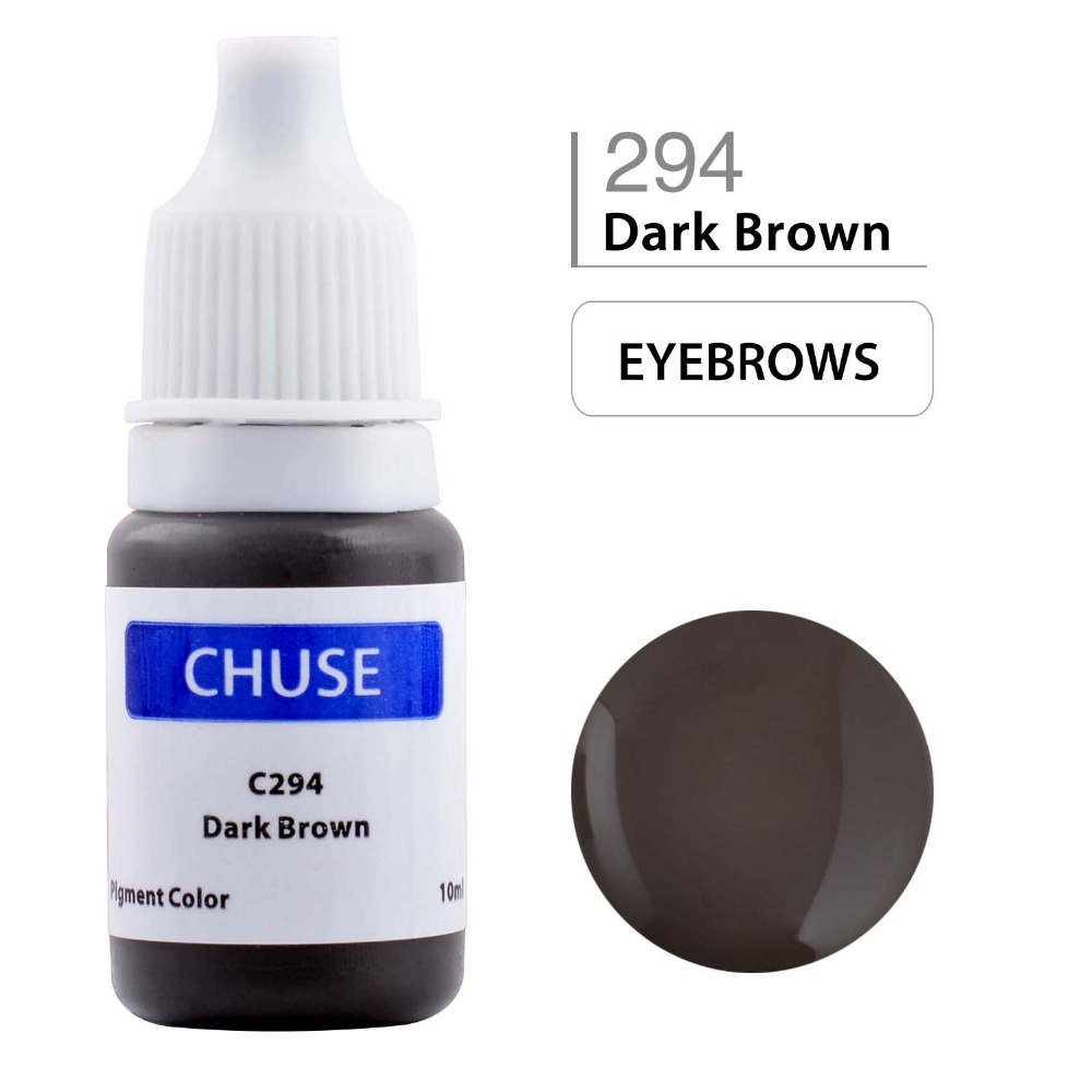 CHUSE Permanent Makeup Ink Eyeliner Tattoo Ink Set Eyebrow Microblading Pigment Professional Encre A Levre 10ML Dark Brown C294 asus a88xm plus page 10