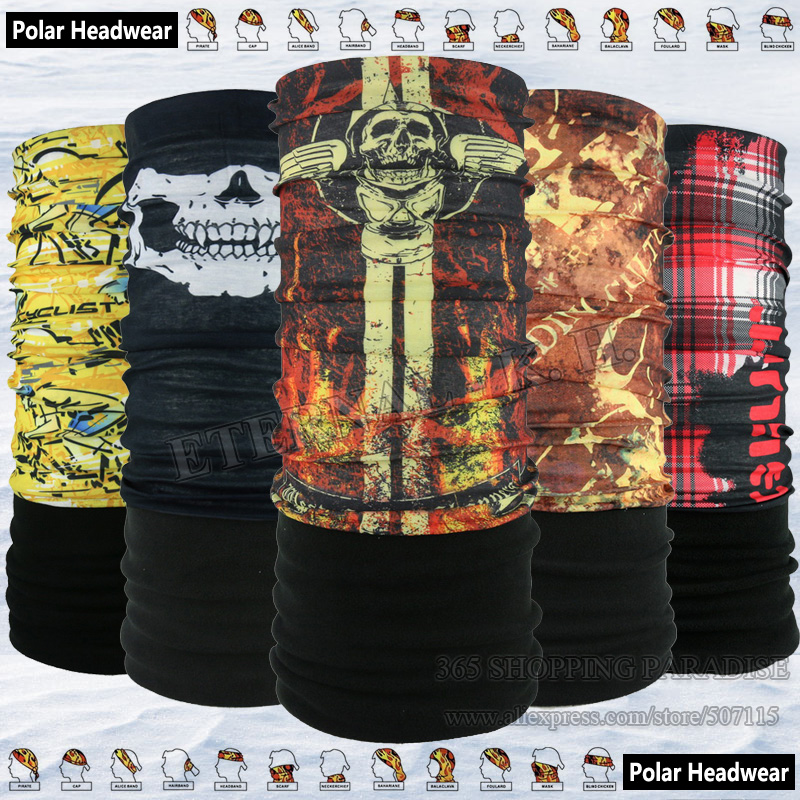 Popular Popular Multi Purpose Berbasikal Tube Mask Luar Polartec Headwear Multifunction Polar Fleece Winter Bandana
