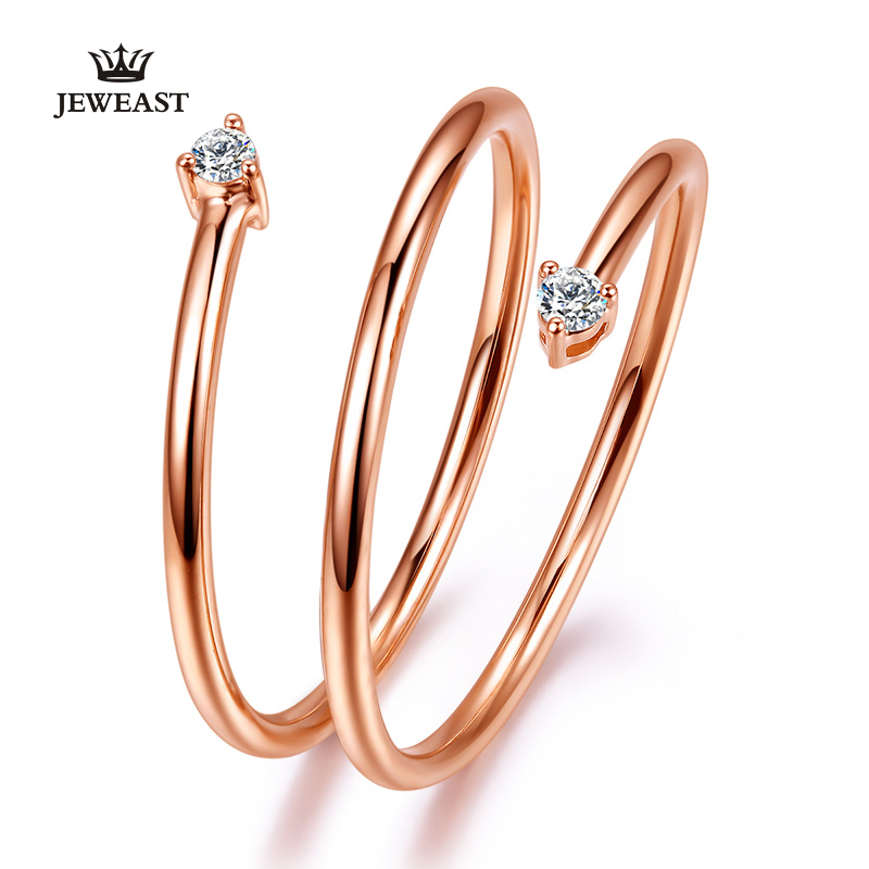 18K Gold Pure Gold Ring Real 18K Solid Gold Rings Good Beautiful Upscale Trendy Classic Party Fine Jewelry Hot Sell New 2018 18k pure gold ring real au 750 solid gold rings good beautiful upscale trendy classic party fine jewelry hot sell new 2018