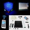 Presente de natal 3D 8 S mini Luz cubeeds LEVOU KIT DIY controle remoto com Efeitos de animação/3D8 8x8x8 Kits/Júnior, Em estoque!