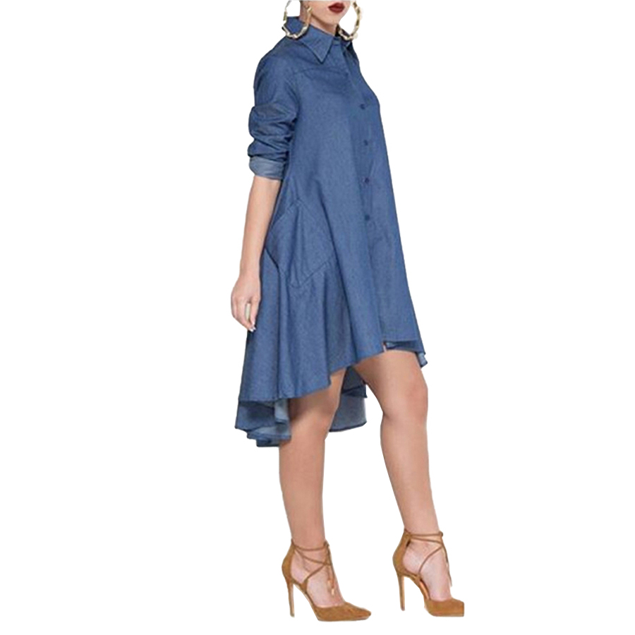 Elegant Casual Style Women Loose Dress 2016 Fashion Turn