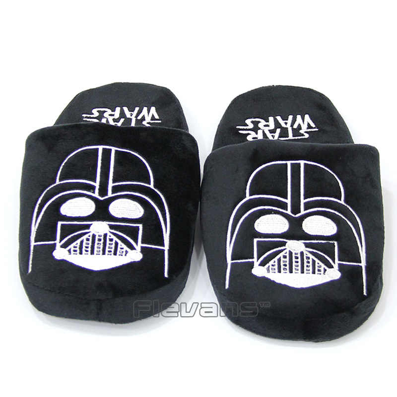 Yoda Darth Vader Plush Cotton Soft Slippers Indoor Warm Shoes Half Stuffed Shoes Indoor Winter Warm shoes