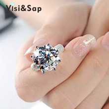Карат алмаза ааа корона обручальные cz позолоченный обручальное роскошные кольца кольцо