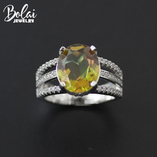 Bolai Zultanit Ring 925 Sterling Silver Color Change Nano Diaspore Oval Gemstone Sultanit Fine Jewelry for Women Wedding Rings bolai 100% natural tourmaline ring 925 sterling silver fancy color five stone gemstone fine jewelry for women wedding rings 2019