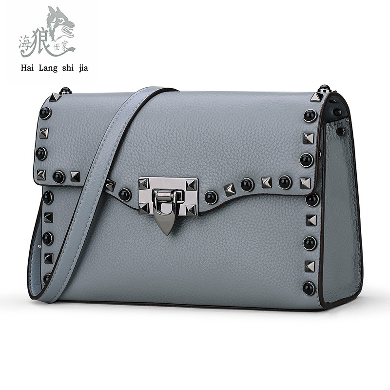 2017 European and American fashion new handbags small square bag Messenger shoulder leather handbags can be customized brands 2017 autumn european and american fashion women s handbags high end atmosphere banquet tote bag dhl speedy shipping