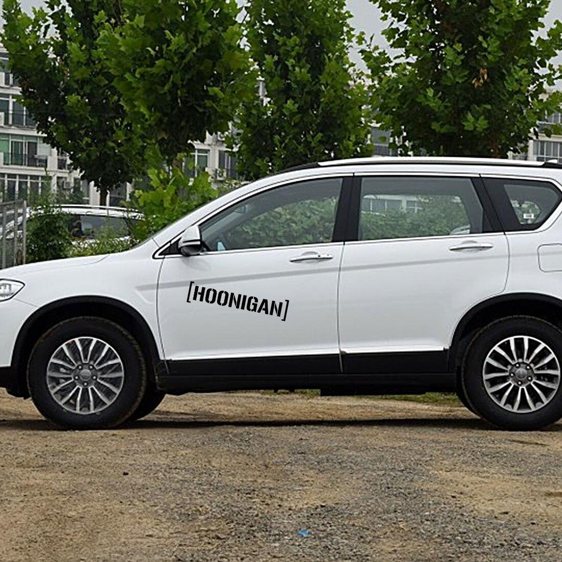 Dewtreetali Новое поступление Hoonigan Drift JDM автомобиля Стикеры s надписи Мотоцикл Авто черный/белый HOONIGAN Стикеры 25X5,5 см