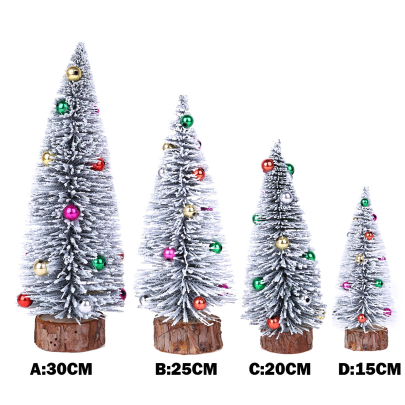 Us 2 01 15 Off Christmas Tree Decorations Wood Christmas Decorations For Home Table Mini Xmas Tree Home Decor New Year Gift Navidad 20or29 In Trees