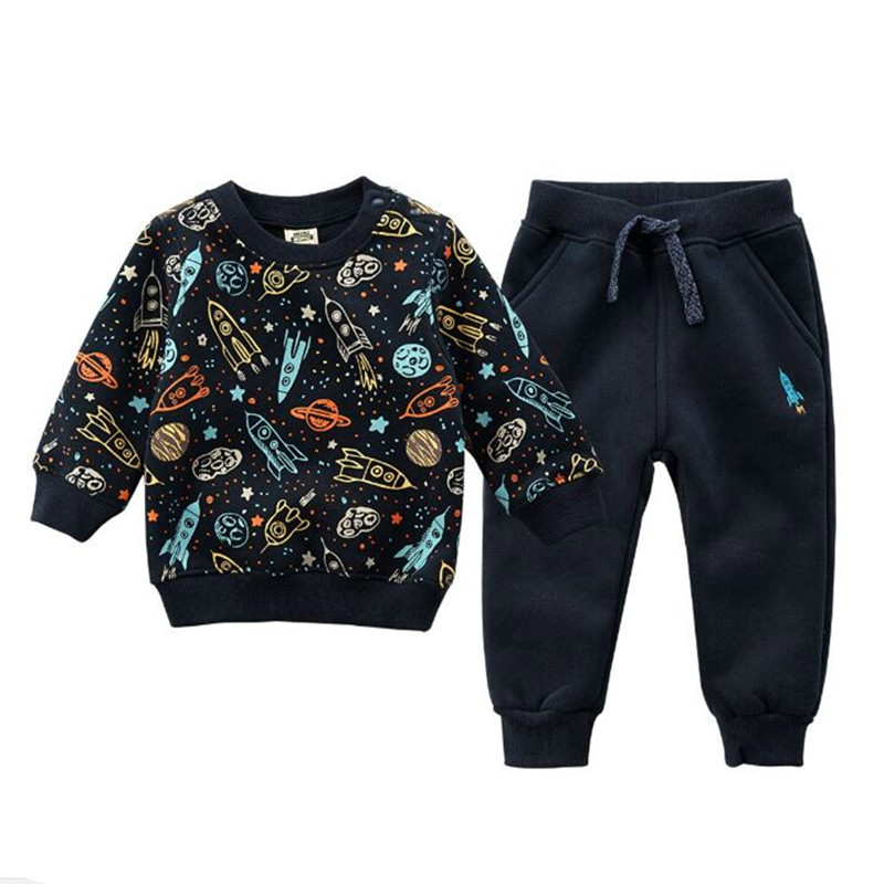 Autumn/spring Baby Boy Clothing Sets Girls Children Velvet Warm Set Kids Clothes Cartoon Coats+ Pants Suit Sport Clothing new 2014 spring autumn girls cartoon spider man suit boy long sleeve pants clothing set high quality baby kids casual clothing