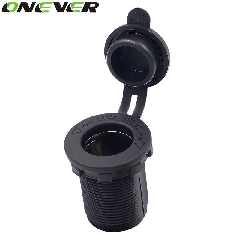 Onever Waterproof Heat Resisting Plastic Power Socket DC 12V Motorcycle Car Tractor Cigarette Lighter Plug Outlet Car Accesories