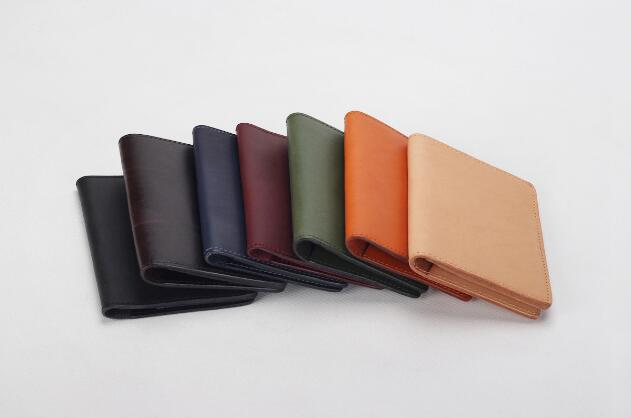 Classic genuine leather handmade folder card holder passport holder