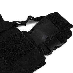 Image 4 - Bolsa de pecho Universal Radio funda de transporte para Walkie Talkie pecho bolsillo Negro Mochila para Radio Comunicador para Radios dobles