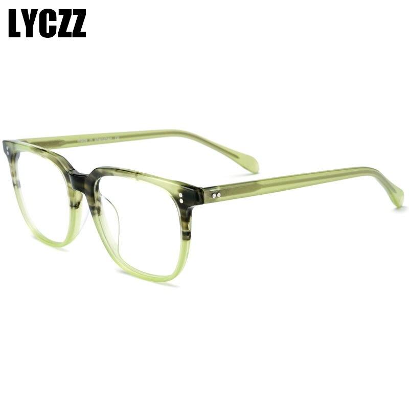 LYCZZ Anti-bleu lumière ronde Vintage lunettes à verres transparents optique monture de lunettes mode femmes lunettes cadre hommes lunettes cadre