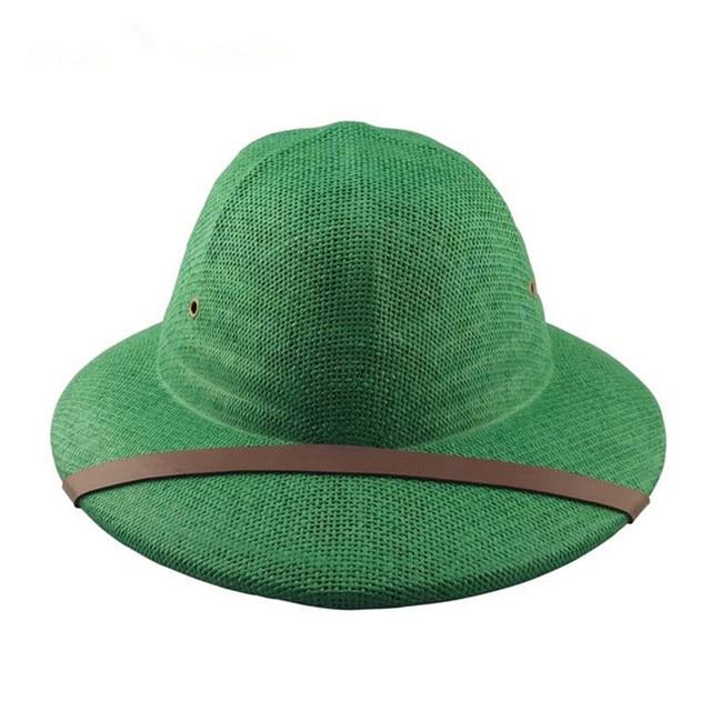 448ae034 Free shipping Straw Pith Bucket Safari hats Jungle Sun Hat Safari Style  Adult Hat New Straw Helmet safari hat