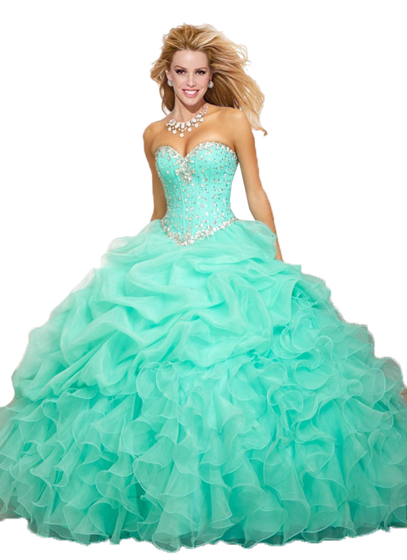 On Sale 2015 Turquoise Blue Yellow Sweetheart Crystals Quinceanera ...