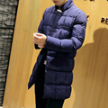 Factory Direct Down Coat Fashion 2016 Thicken Long Winter Jacket Men Single Breasted Stand Collar Parka Men Plaid Men Coats 5XL