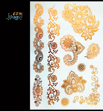 3D Temporary Tattoo Tattoo Flash Flash Light Rose Color Tattoo On The Body Of The Female Body Art Tattoo Stickers AW-12