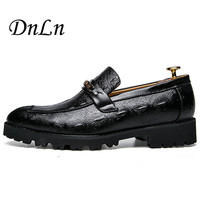 Size 38 43 Causal Shoes Men Loafers Square Heel Moccasins Men Driving Shoes High Quality Flats