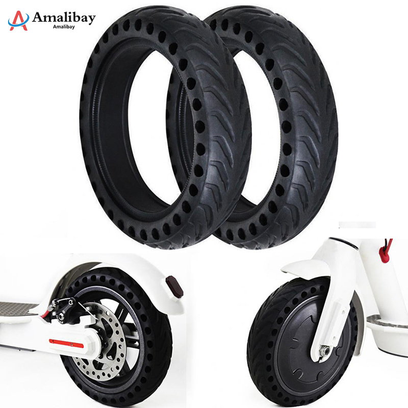 Xiaomi Pro M365 Electric Scooter Skateboard Wheel Tires Tyre Solid Hole Tires Shock Absorbed Non Pneumatic Tyre Damping Rubber