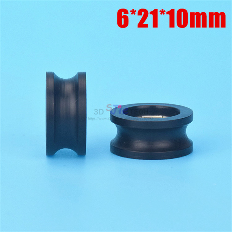 1pcs 6*21*10mm U Grooved Nylon Wrapped Plastic Injection Plastic Wheel, Inner Groove Embedded 696 Bearing,for Door And Window 2019 Latest Style Online Sale 50%