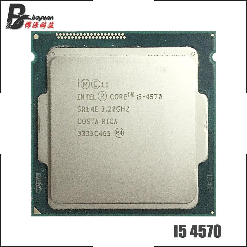 インテル Core i5 4570 i5 4570 3.2 Ghz のクアッドコア CPU プロセッサ 6 メートル 84 ワット LGA 1150  グループ上の パソコン & オフィス からの CPU の中 1
