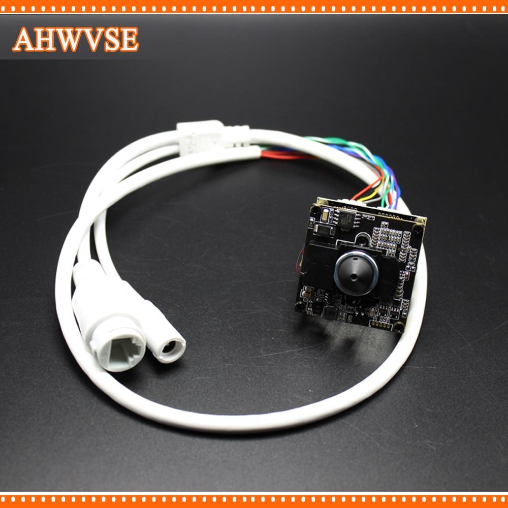AHWVSE HD Mini 3.7mm Lens 1920*1080P IP Camera Module Board IRCUT CMOS CCTV IP camera+ HD IR-CUT with nvsip application free shipping diy hd ip camera module 1080p 3518ev200 f22 2mp cmos ip camera board include 3 6mm ir cut cable camera module
