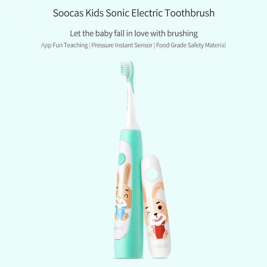Universal Protective Clean Plaque Control Electric Toothbrush for Kids USB Rechargeable Electric Toothbrush in Electric Toothbrushes from Home Appliances