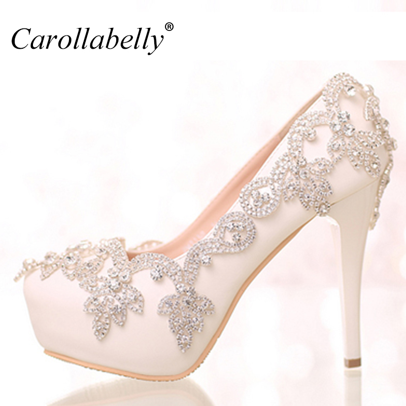 colored rhinestone Flower Platform High Heels or low heels rhinestone sexy women pumps  party Wedding Shoes Bride Shoes baoyafang white red tassels women wedding shoes bride 12cm 14cm high heels platform shoes woman high pumps female shoes