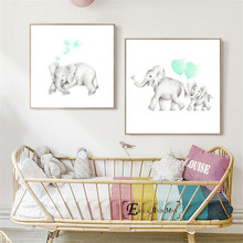Baby Mummy Elephant Nursery Modern Decorative Wall Pictures For Living Room Canvas Painting Art No Frame Posters And Prints Home