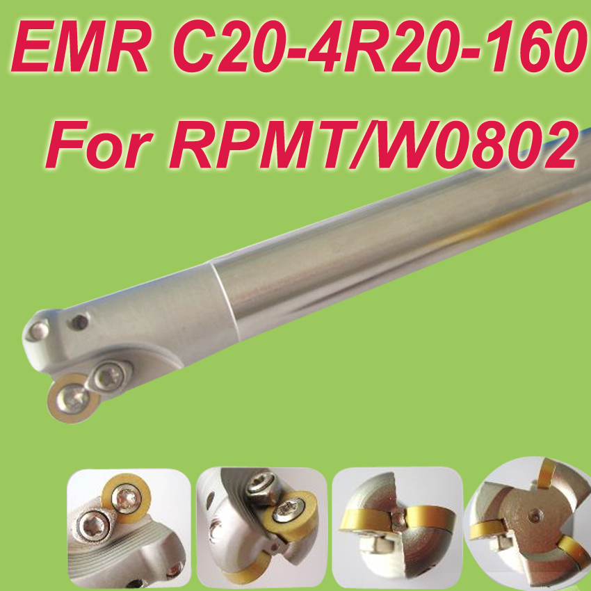Free Shiping EMR SHK 20MM,L:150mm  Indexable Shoulder End Mill Arbor Cutting Tools for RPMT0802/RPMW0802