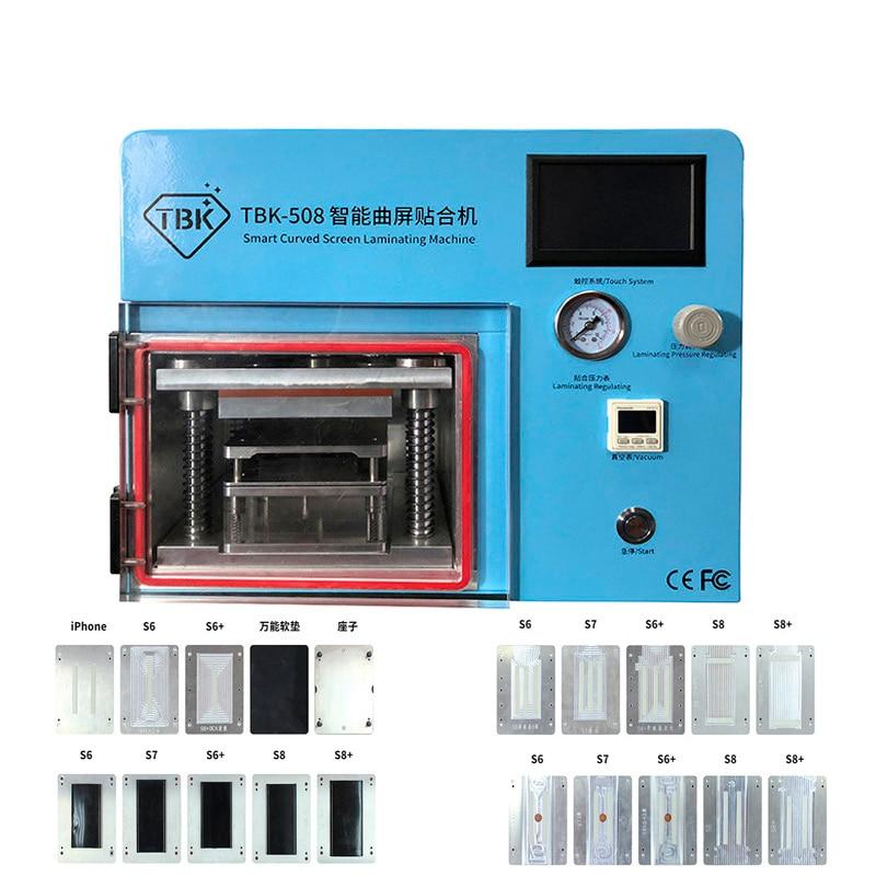 5 En 1 TBK-508 máquina de laminación de vacío para Sumsung S6 S6 + S7 S8 S8 + borde curvado teléfono LCD reparación de OCA