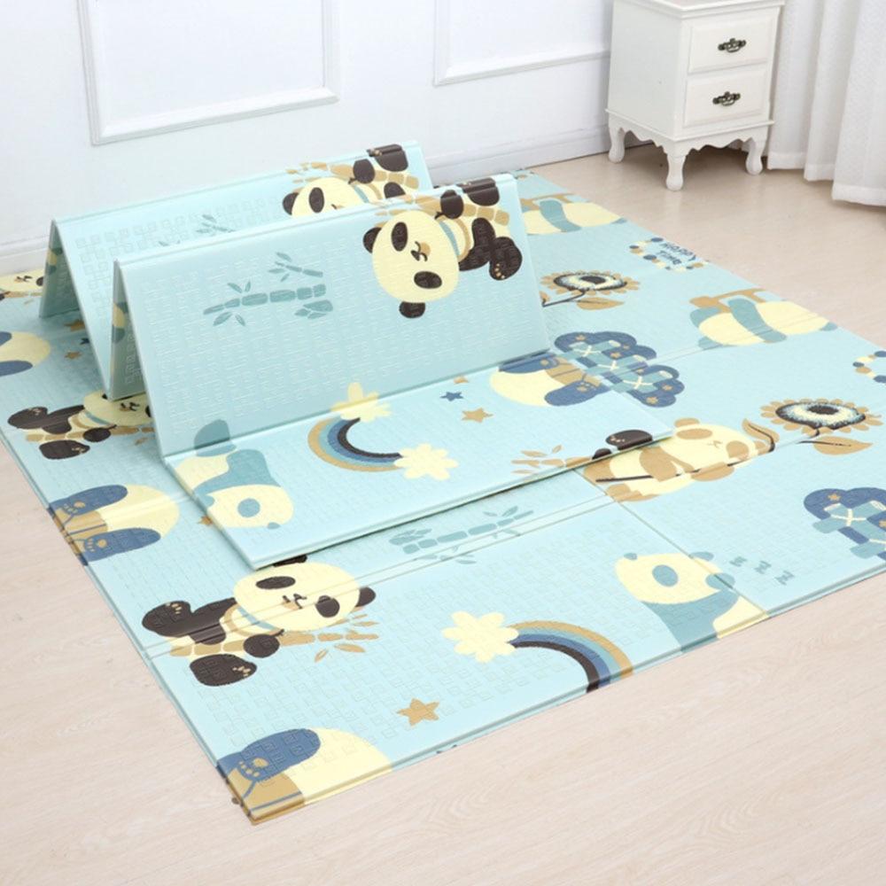 Tapis pliant bébé tapis de jeu tapis ramper en mousse réversible imperméable Portable Double côtés enfants bébé enfant en bas âge utilisation extérieure ou intérieure