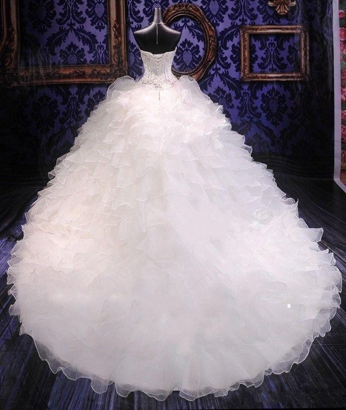 2018 Luxury Beaded Embroidery Bridal Gown Princess Gown Sweetheart ...