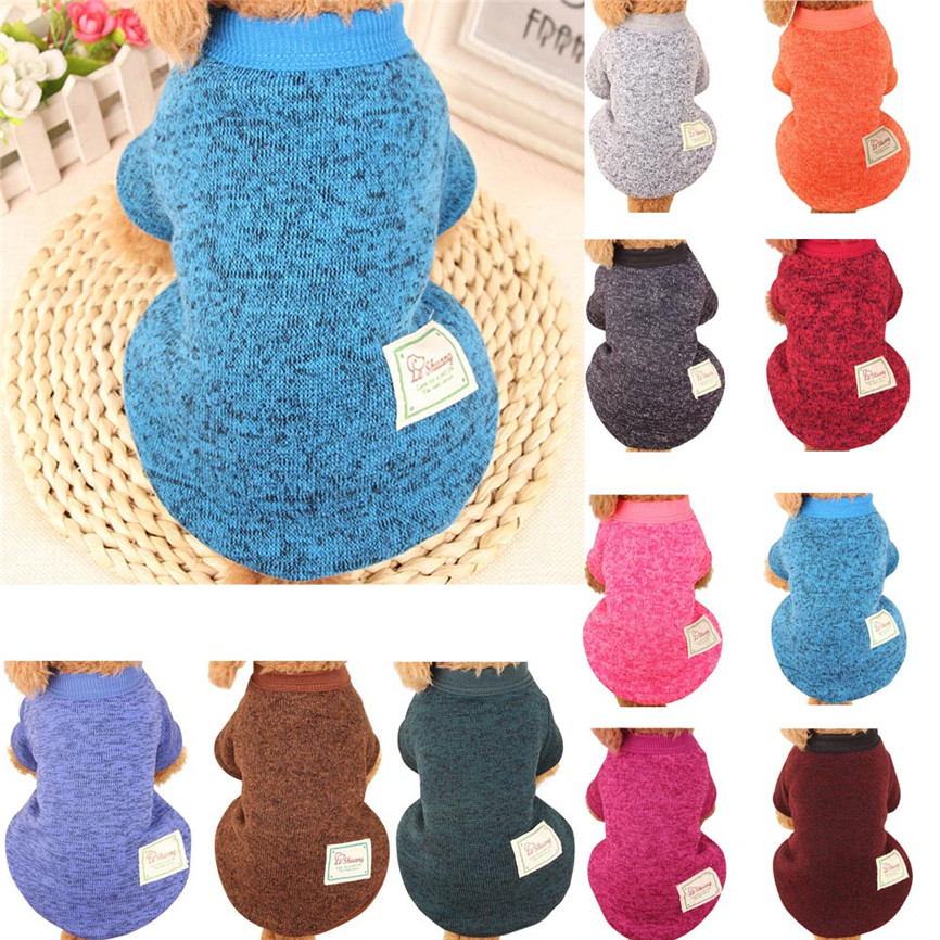 New Quality Lovely Woolen Thick Pet Clothes Autumn&Winter Warm Sweater Clothing Costume S~XXL Colorful Wholesale &918
