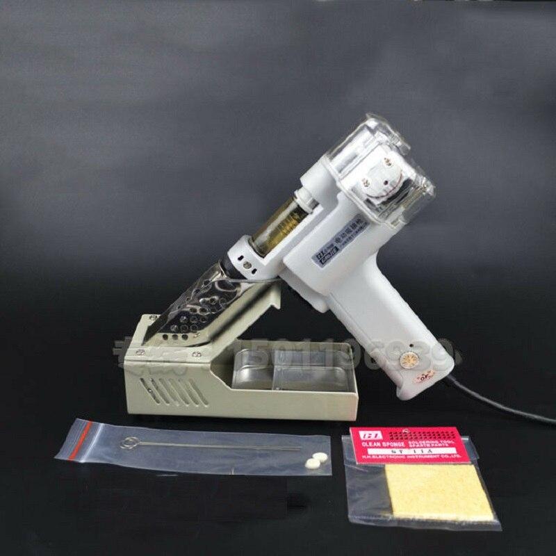 220 V 100 W double-pompe S-998P pompe à dessouder sous vide électrique double pompe d'aspiration étain soudure ventouse pistolet électrique