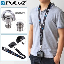 PULUZ Detachable Long Neck Chest Strap Lanyard Sling w/h Quick Release & Safety Tether for DJI Osmo Action/GoPro HERO5/4 Session