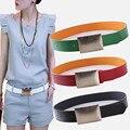 Venta caliente Colorida de la Mujer Cinturones de Cuero de La Pu Correa de Cintura Cinturón Elástico Para Las Mujeres Mujer Correa Para Los Pantalones Vaqueros 2015 NUEVO