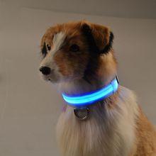 Освещения-d32 собаку ворот кота нейлон воротник ночник-излучающие из светодиодов животное ошейник ошейник зарядка от USB