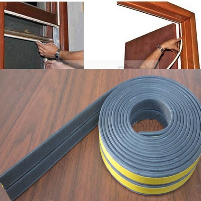 Genial 4PCS/20m Self Adhesive Shape I Type Doors And Windows Foam Seal Strip  Soundproofing Collision