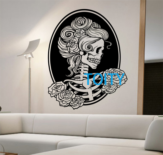 Day Of The Dead Girl Vinyl Wall Decal Sticker Art Decor Bedroom