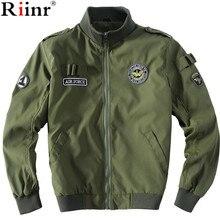 RIINR куртка-бомбер Aeronautica Militare Для мужчин куртка Для Мужчин's Повседневное Верхняя одежда Пальто ВВС в стиле милитари куртки Jaquetas Весте Homme