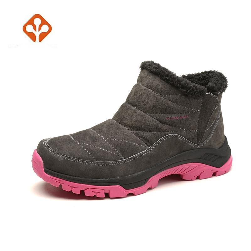 Salaman Climbing Mountain Snow Boots Shoes Woman Boots Shoes Women'S Winter Outdoor Hiking Trekking Sneakers For Women Warm humtto women s outdoor winter trekking hiking boots shoes sneakers for women sports climbing mountain snow boots shoes woman