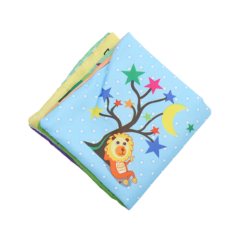 New Cute Fruit Style Baby Toys Infant Kids Early Education soft Cloth Books Learning Education Unfolding Activity Books shape